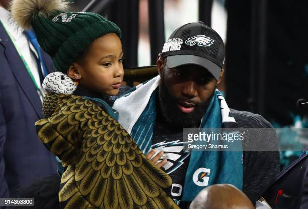 Malcolm Jenkins of the Philadelphia Eagles celebrates defeating the New England Patriots 4133 in Super Bowl LII at US Bank Stadium on February 4 2018...