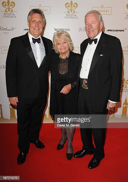 Malcolm Lewis Judith Chalmers and Neil DurdenSmith attends Relais Chateaux's 'Diner des Grands Chefs London 2013' in aid of Action Against Hunger at...