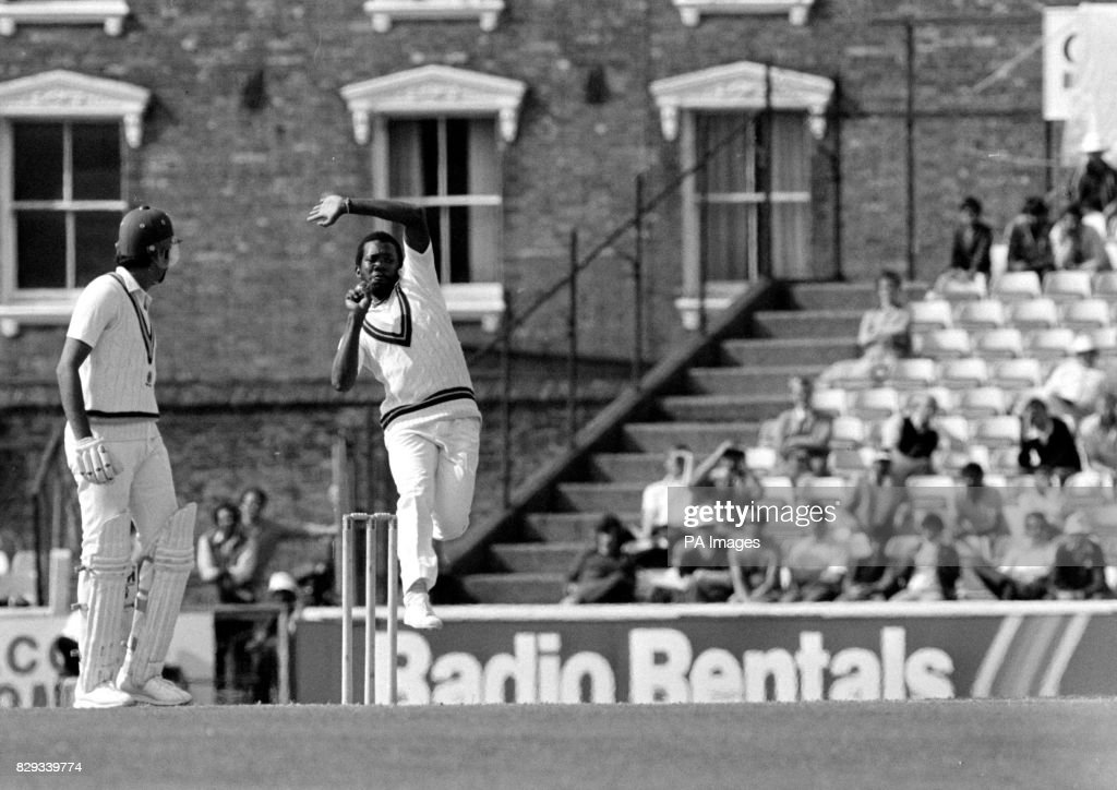 Malcolm Marshall West Indies' fast bowler : News Photo
