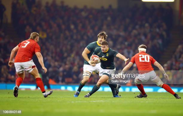 Malcolm Marx of South Africa on attack during the Castle Lager Outgoing Tour match between Wales and South Africa at Principality Stadium on November...