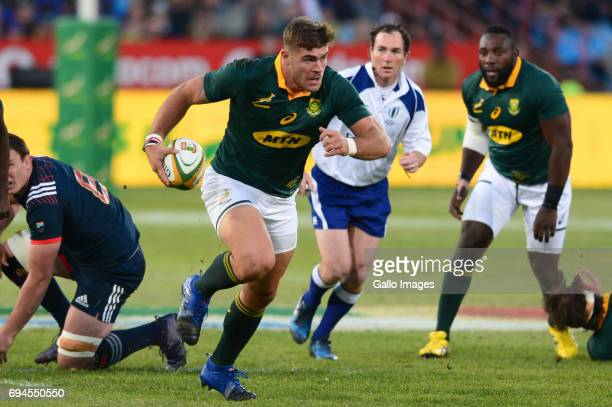 Malcolm Marx of the Springboks during the Castle Lager Incoming Series 1st Test between South Africa and France at Loftus Versfeld on June 10 2017 in...