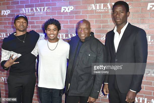 Malcolm Mays Isaiah John John Singleton and Damson Idris attend FX's 'Atlanta Robbin' Season' Premiere Arrivals at Ace Theater Downtown LA on...