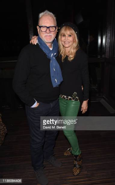 Malcolm McDowell and Britt Ekland attend 'In Conversation With Malcolm McDowell' at the BFI Southbank on April 5 2019 in London England