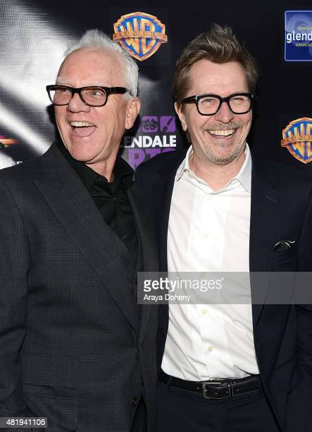 Malcolm McDowell and Gary Oldman attend the Prospect House Entertainment and Glendale Arts presents Malcom McDowell Series Of QA Screenings Presents...