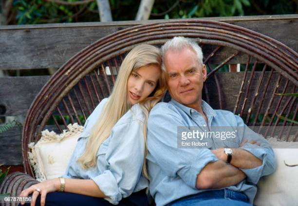 Malcolm McDowell and Girlfriend Kelley Kuhr at Home