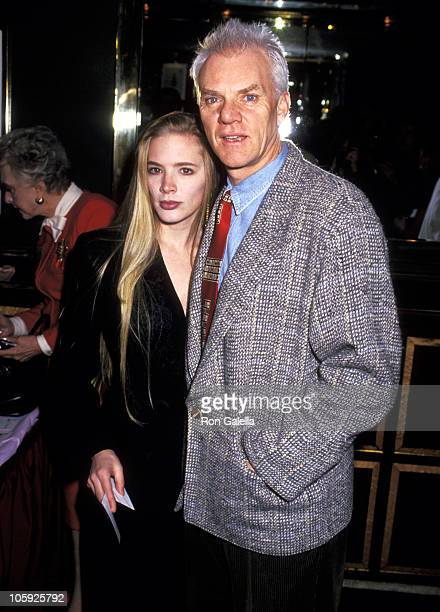 Malcolm McDowell and Kelley Kuhr during 1993 Oscar Nominee Luncheon hosted by the Academy of Motion Pictures at Russian Tea Room in New York City New...
