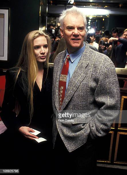 Malcolm McDowell and Kelley Kuhr during 1993 Oscar Nominee Luncheon hosted by the Academy of Motion Pictures at Russian Tea Room in New York City,...