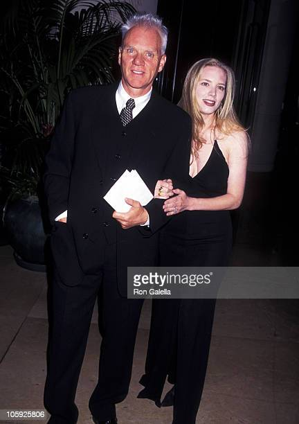 Malcolm McDowell and Kelley Kuhr during 49th Annual Writers Guild Awards at Beverly Hilton Hotel in Beverly Hills, California, United States.