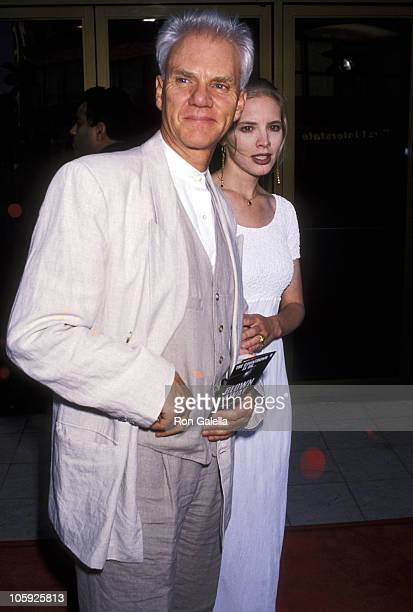 Malcolm McDowell and Kelley Kuhr during Blown Away Premiere at Mann's National Theater in Westwood California United States