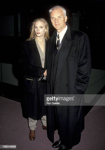 Malcolm McDowell and Kelley Kuhr during Los Angeles Premiere of Damage at Pacific Design Center in West Hollywood California United States