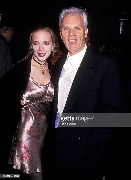 """Malcolm McDowell and Kelley Kuhr during """"Ready to Wear"""" Los Angeles Premiere at Avco Cinema in Westwood, California, United States."""