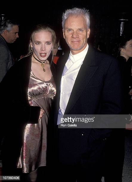 Malcolm McDowell and Kelley Kuhr during Ready to Wear Los Angeles Premiere at Avco Cinema in Westwood California United States