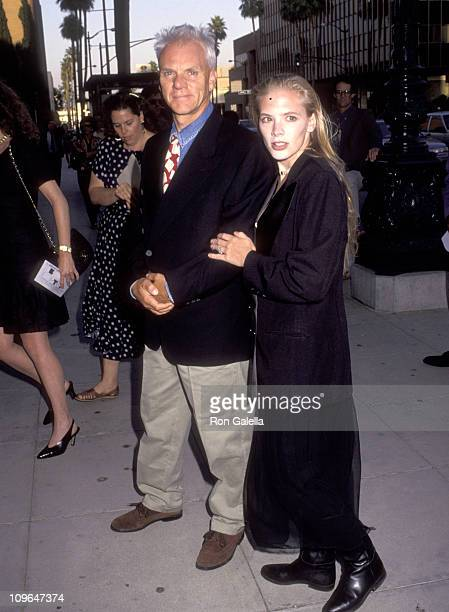 """Malcolm McDowell and Kelley Kuhr during """"Sarafina!"""" Los Angeles Premiere at Academy Theater in New York City, New York, United States."""
