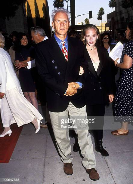 Malcolm McDowell and Kelley Kuhr during Sarafina Los Angeles Premiere at Academy Theater in New York City New York United States