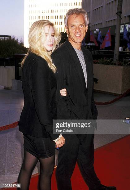"""Malcolm McDowell and Kelley Kuhr during """"Sex, Lies, & Videotape"""" Los Angeles Premiere at Cineplex Odeon Century Plaza in Century City, CA, United..."""
