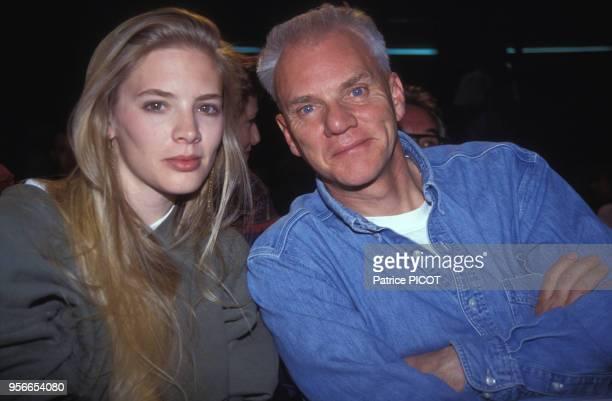 Malcolm McDowell et sa femme Kelley Kuhr au Festival d'Avoriaz en janvier 1992, France.