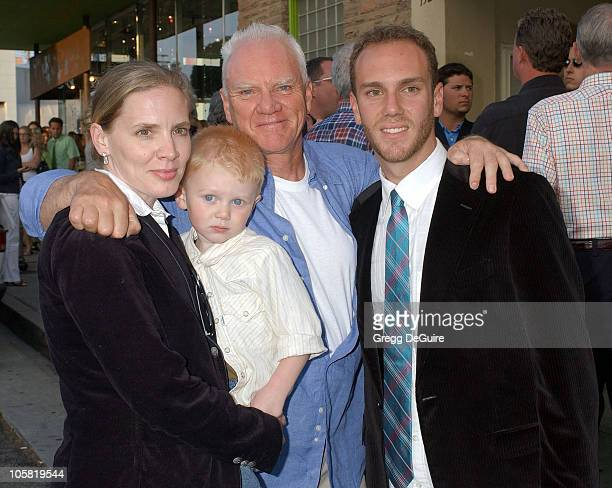 Malcolm McDowell wife Kelley Kuhr son Beckett and Charlie McDowell