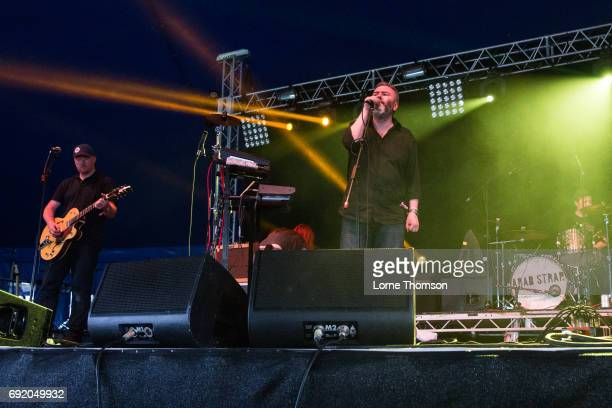Malcolm Middleton and Aiden Moffat of Arab Strap perform at The Crack Stage on Day 1 of Field Day Festival at Victoria Park on June 3 2017 in London...