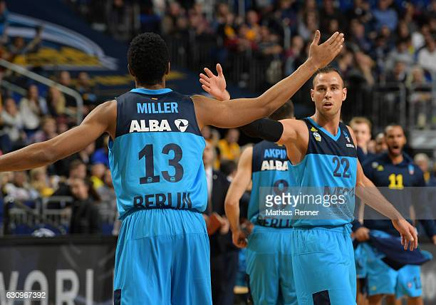 Malcolm Miller and Will Cherry of Alba Berlin during the game between Alba Berlin and Unicaja Malaga on january 4 2017 in Berlin Germany