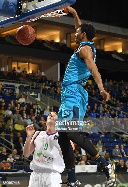 Malcolm Miller of Alba Berlin and Alberto Diaz of Unicaja CB Malaga during the game between Alba Berlin and Unicaja Malaga on january 4 2017 in...