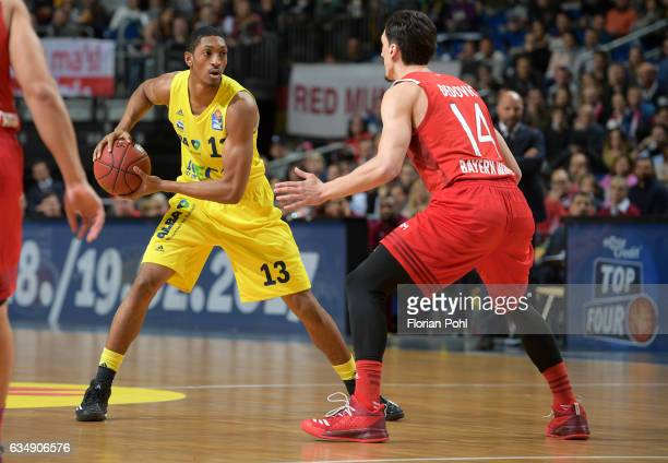 Malcolm Miller of Alba Berlin and Nihad Djedovic of FC Bayern Muenchen during the game between Alba Berlin and FC Bayern Muenchen on February 12 2017...