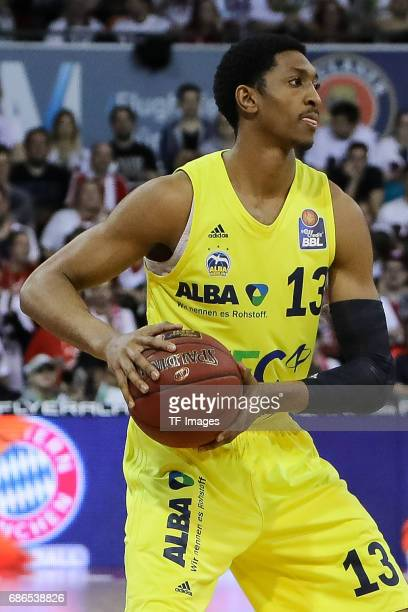Malcolm Miller of Berlin controls the ball during the easyCredit BBL Basketball Bundesliga match between FC Bayern Muenche and Alba Berlin at Audi...