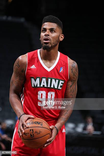 Malcolm Miller of the Maine Red Claws shoots a free throw against the Long Island Nets during an NBA DLeague game between the Maine Red Claws and the...
