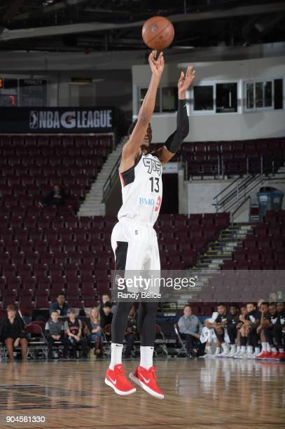 Malcolm Miller of the Raptors 905 shoots the ball during the NBA GLeague Showcase Game 22 between the Sioux Falls Skyforce and the Raptors 905 on...