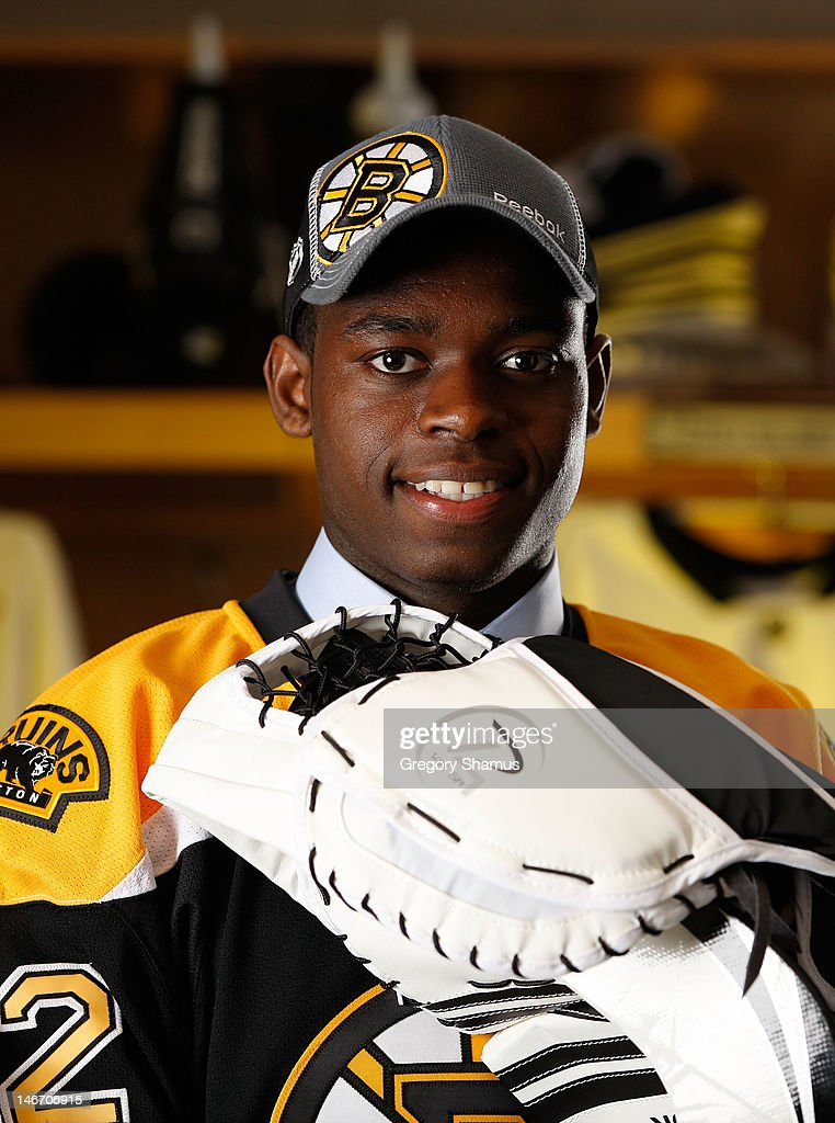 Malcolm Subban 24th Overall Pick By The Boston Bruins Poses For A