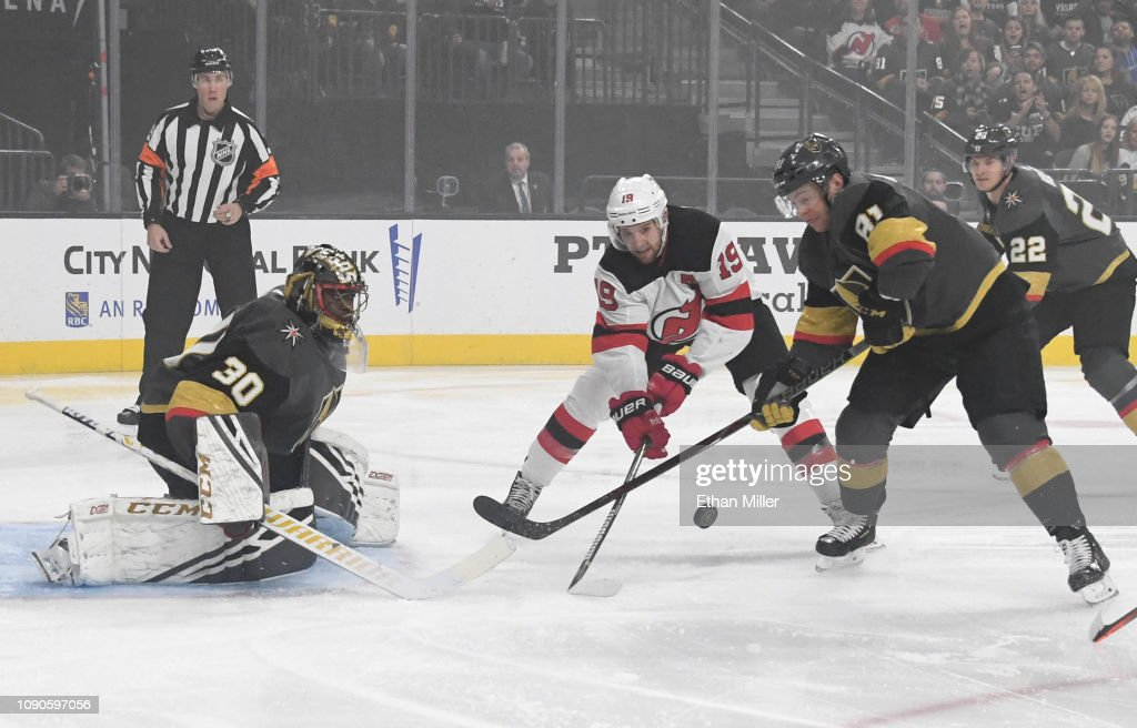 innovative design 13cf7 dbf77 Malcolm Subban of the Vegas Golden Knights blocks a shot by ...