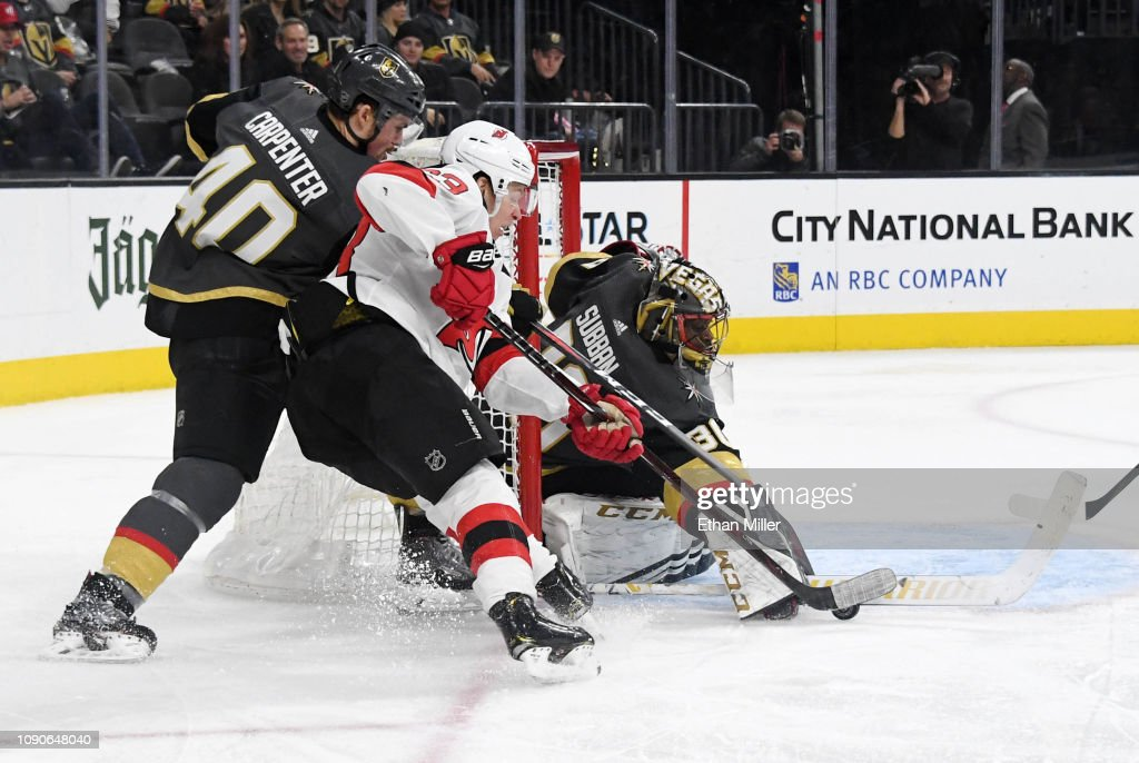 new concept 110d9 52cc7 Malcolm Subban of the Vegas Golden Knights blocks a ...