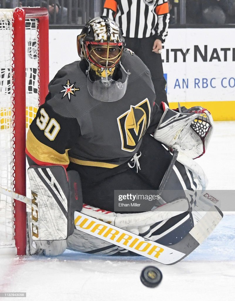 Malcolm Subban Of The Vegas Golden Knights Keeps His Eye On The Puck