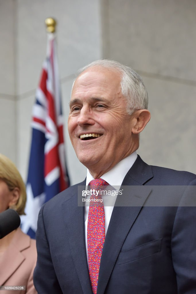 Malcolm Turnbull, Australia's prime minister and leader of the Liberal Party, speaks during a news conference in Canberra, Australia, on Tuesday, Aug. 21, 2018. Turnbull survived a leadership vote on Tuesday but may be challenged again within days amid growing unease among party colleagues about the government's slumping poll ratings. Photographer: Mark Graham/Bloomberg via Getty Images