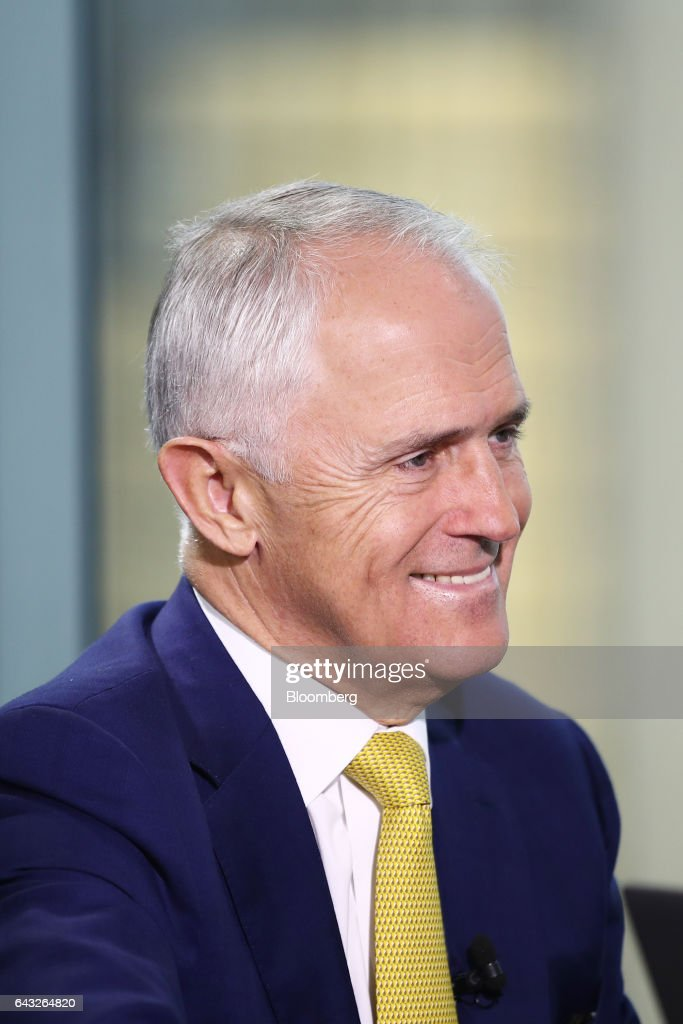 Deficit Simplified >> Australian Prime Minister Malcolm Turnbull Interview Photos and Images   Getty Images