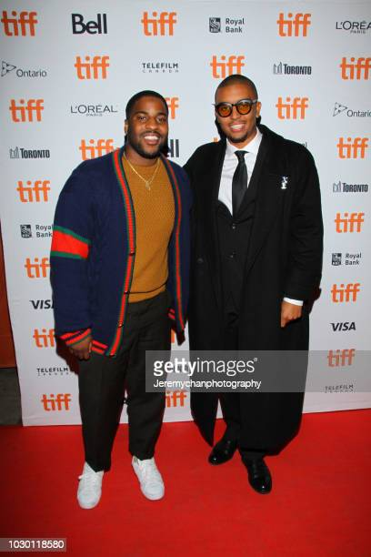 Malcolm Washington and Mikey Alfred attend the 'Mid90s' Premiere during 2018 Toronto International Film Festival at Ryerson Theatre on September 9...