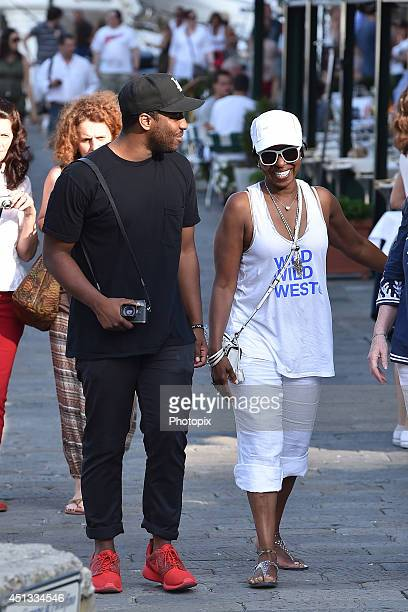 Malcolm Washington and Pauletta Pearson are seen on June 27, 2014 in Portofino, Italy.