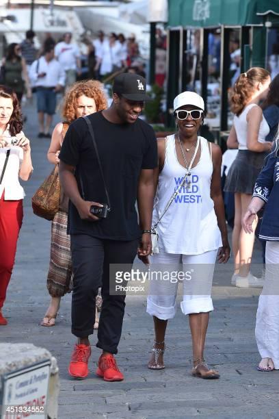 Malcolm Washington and Pauletta Pearson are seen on June 27 2014 in Portofino Italy