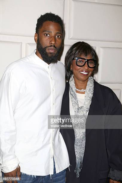 Malcolm Washington and Sheila Frazier attend the Broadway Opening Night performance of 'The Gin Game' at the John Golden Theatre on October 14, 2015...