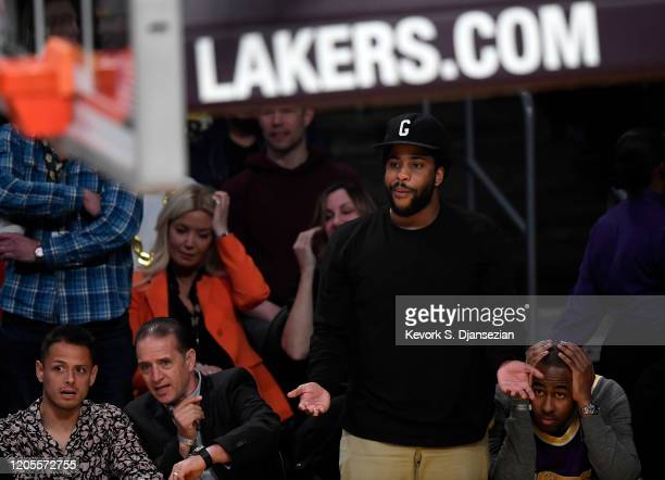 Malcolm Washington attends Los Angeles Lakers and Milwaukee Bucks basketball game at Staples Center on March 6, 2020 in Los Angeles, California.