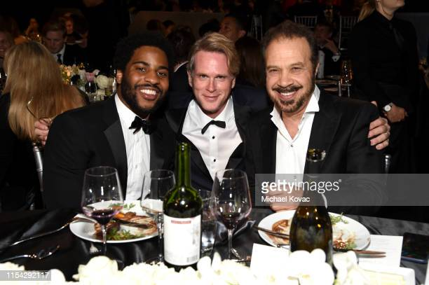 Malcolm Washington, Cary Elwes and Edward Zwick attend the 47th AFI Life Achievement Award honoring Denzel Washington at Dolby Theatre on June 06,...