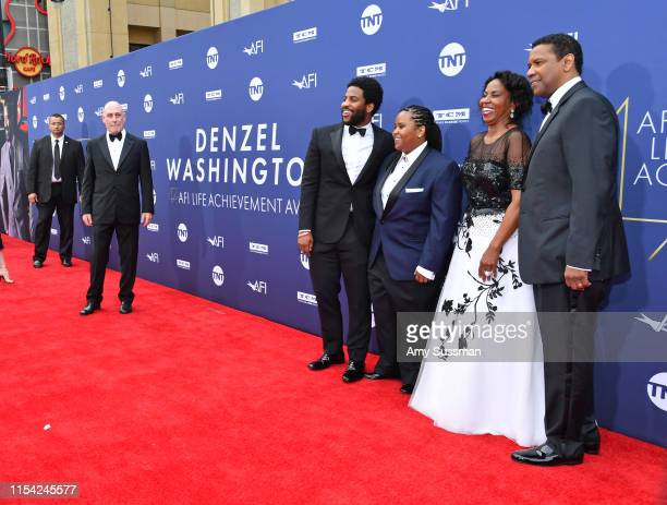 Malcolm Washington, Katia Washington, Pauletta Washington, and Denzel Washington attend the 47th AFI Life Achievement Award honoring Denzel...