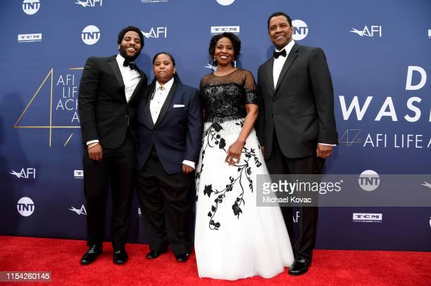 Malcolm Washington, Katia Washington, Pauletta Washington, and Denzel Washington attends the 47th AFI Life Achievement Award honoring Denzel...