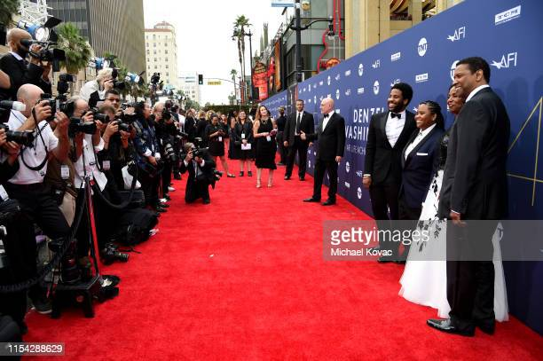 Malcolm Washington, Katia Washington, Pauletta Washington and Denzel Washington attend the 47th AFI Life Achievement Award honoring Denzel Washington...