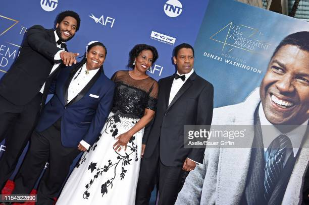Malcolm Washington Katia Washington Pauletta Washington and Denzel Washington attend the American Film Institute's 47th Life Achievement Award Gala...