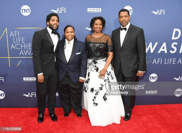 Malcolm Washington Katia Washington Pauletta Washington and honoree Denzel Washington attend the 47th AFI Life Achievement Award Honoring Denzel...