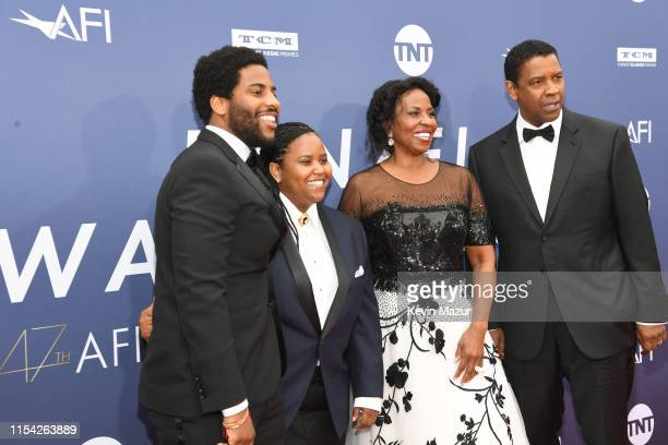 Malcolm Washington, Katia Washington, Pauletta Washington, and honoree Denzel Washington attend the 47th AFI Life Achievement Award Honoring Denzel...