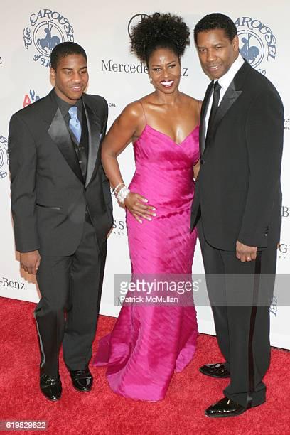 Malcolm Washington Pauletta Washington and Denzel Washington attend 30th Anniversary Carousel Of Hope Ball Benefiting The Barbara Davis Center For...