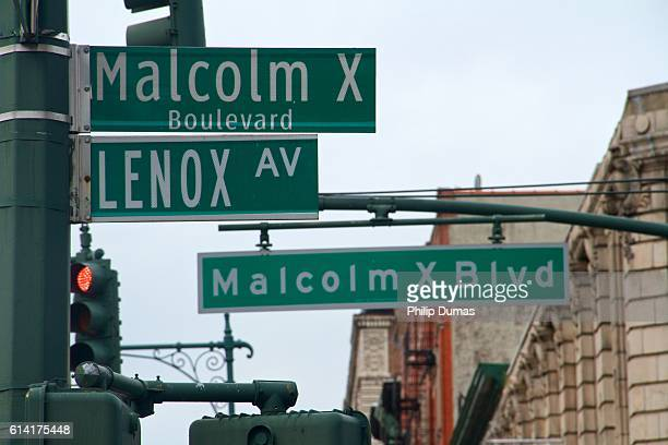 malcolm x boulevard - harlem stock pictures, royalty-free photos & images