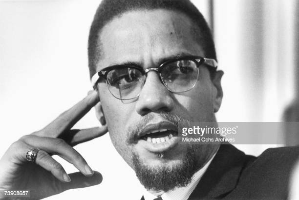 Malcolm X poses for a photo on February 16 in Rochester, New York.