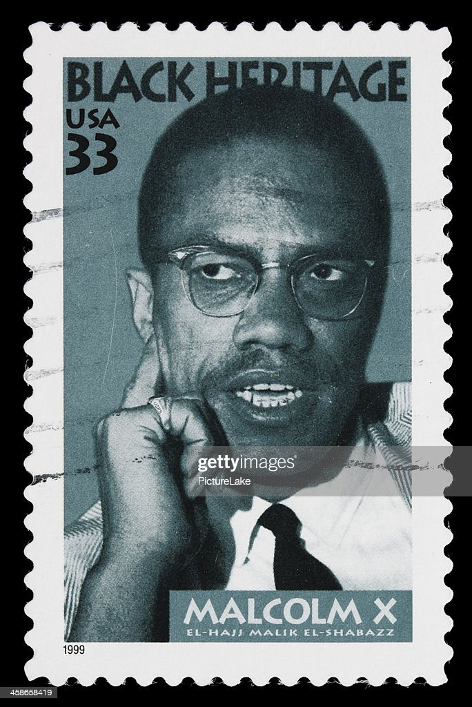 USA Malcolm X postage stamp : Stock Photo